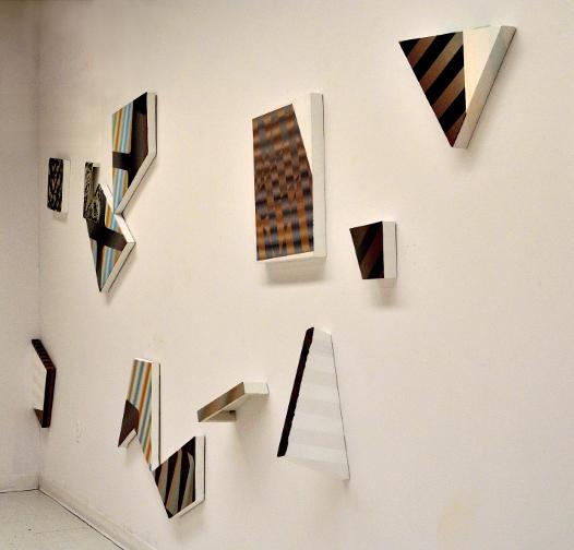 Fragments 2, détail, 2013, Acrylique sur toiles et sur panneaux, dimension variable
