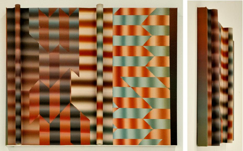 Faire Écran 6 (Vitesse), 2013, Acrylique sur toile collée sur panneau, 30'' X 24''