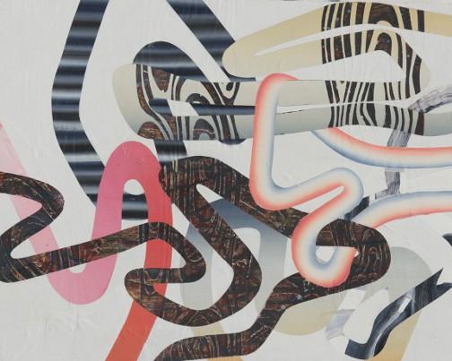 Jonction, 2012, Acrylique sur panneau, 24'' x 30''
