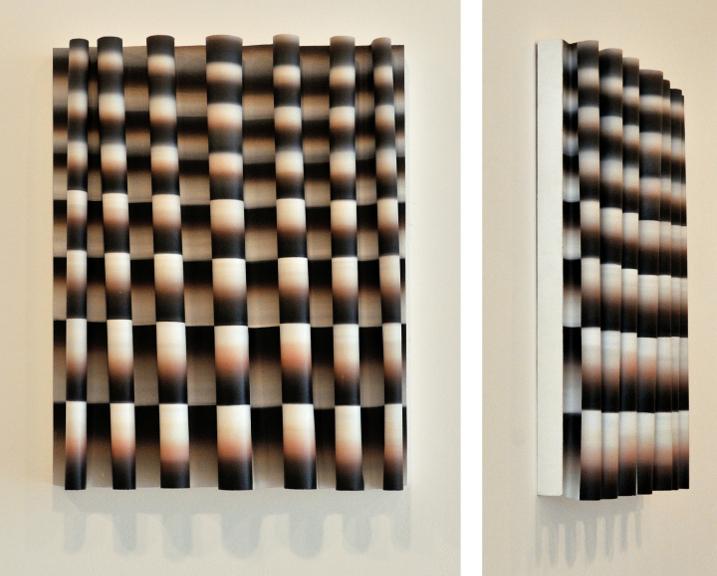 Faire Écran 5 (Horizon), 2013, Acrylique sur toile collée sur panneau, 30'' X 24''