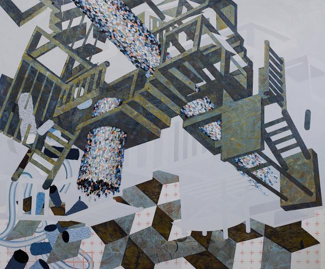 Décollage, 2012, Acrylique sur toile, 60'' X 72''