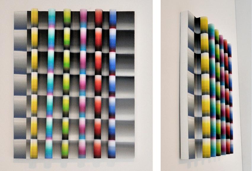 Faire Écran 4 (Mire), 2013, Acrylique sur toile collée sur panneau, 30 p X 24 p