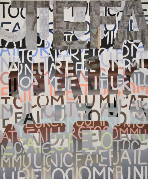 Failure to Communicate, Acrylique sur toile, 72'' X 60''