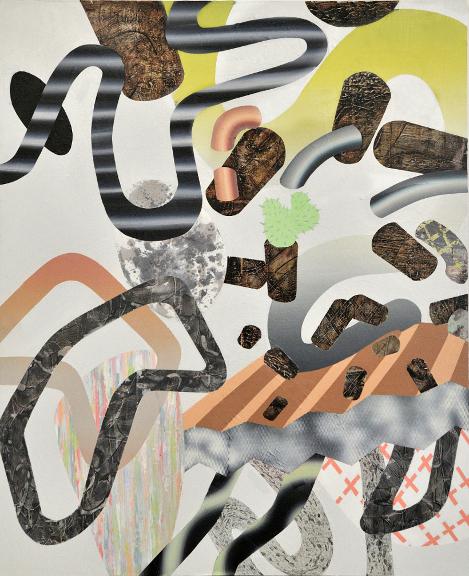 Sans titre (le cactus), 2012, acrylique sur toile, 60'' x 48''