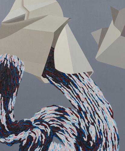 Match 2, 2011, 60 cm X 51 cm, Acrylique sur panneau de bois