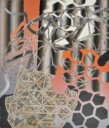 Enclos 3, 2012, Acrylique sur contre-plaqué, 60 cm X 51 cm