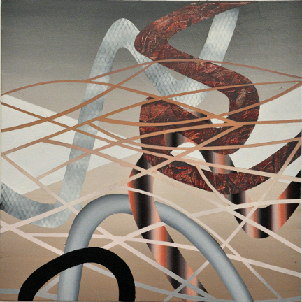 Jonction 2, 2012, Acrylique sur toile, 30'' x 30''