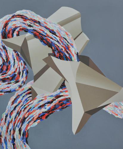 Match 5, 2011, 60 cm X 51 cm, Acrylique sur panneau