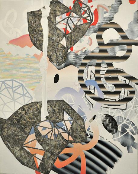Refuge, 2012, Acrylique sur toile, 60'' X 48''