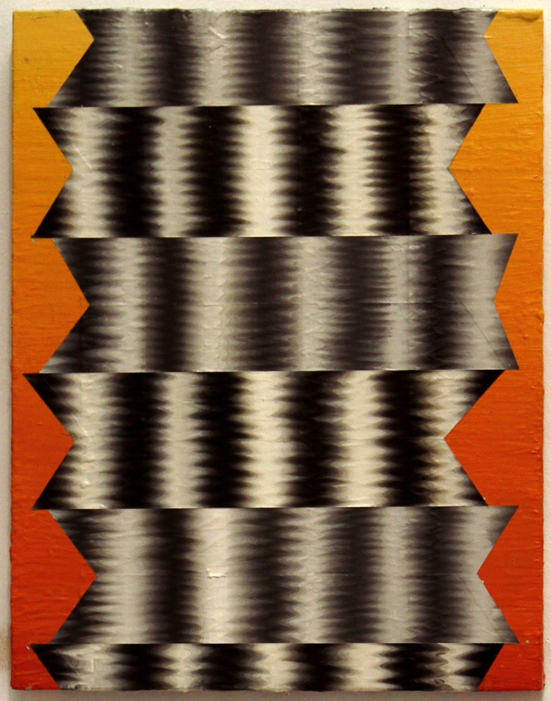 Onde I, 2014, Acrylique sur panneau, 14'' x 11''