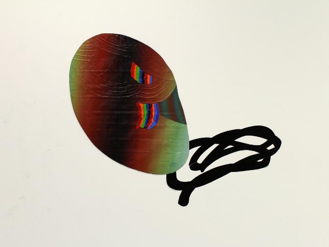 Black Hole Sun (Extraction), 2014, Acrylique sur toile et vinyle