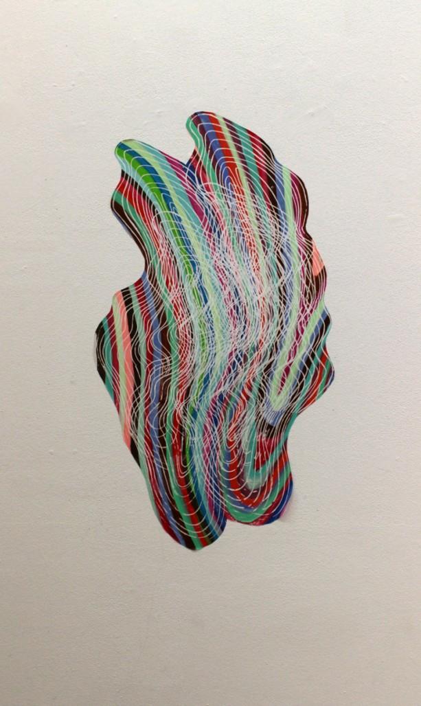 Petite Topographie, 2014, Acrylique et sérigraphie sur vinyle