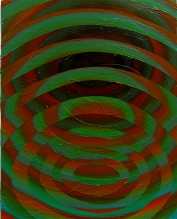 Onde II, 2014, Acrylique sur panneau, 20'' x 16''