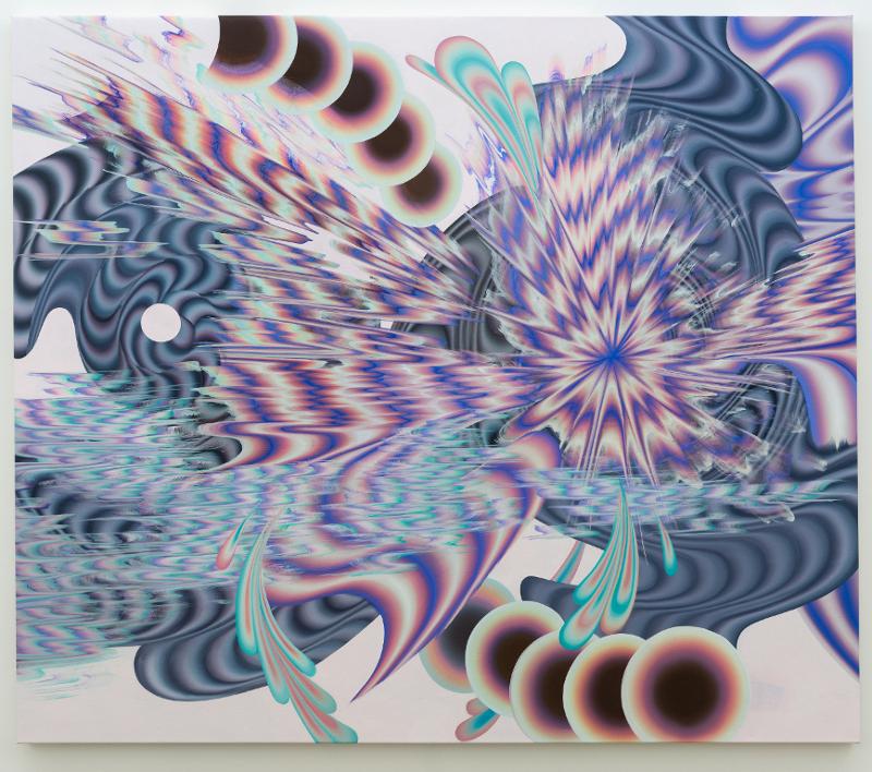 Grande Spirale, 2017, Acrylique sur toile, 72 p x 84 p