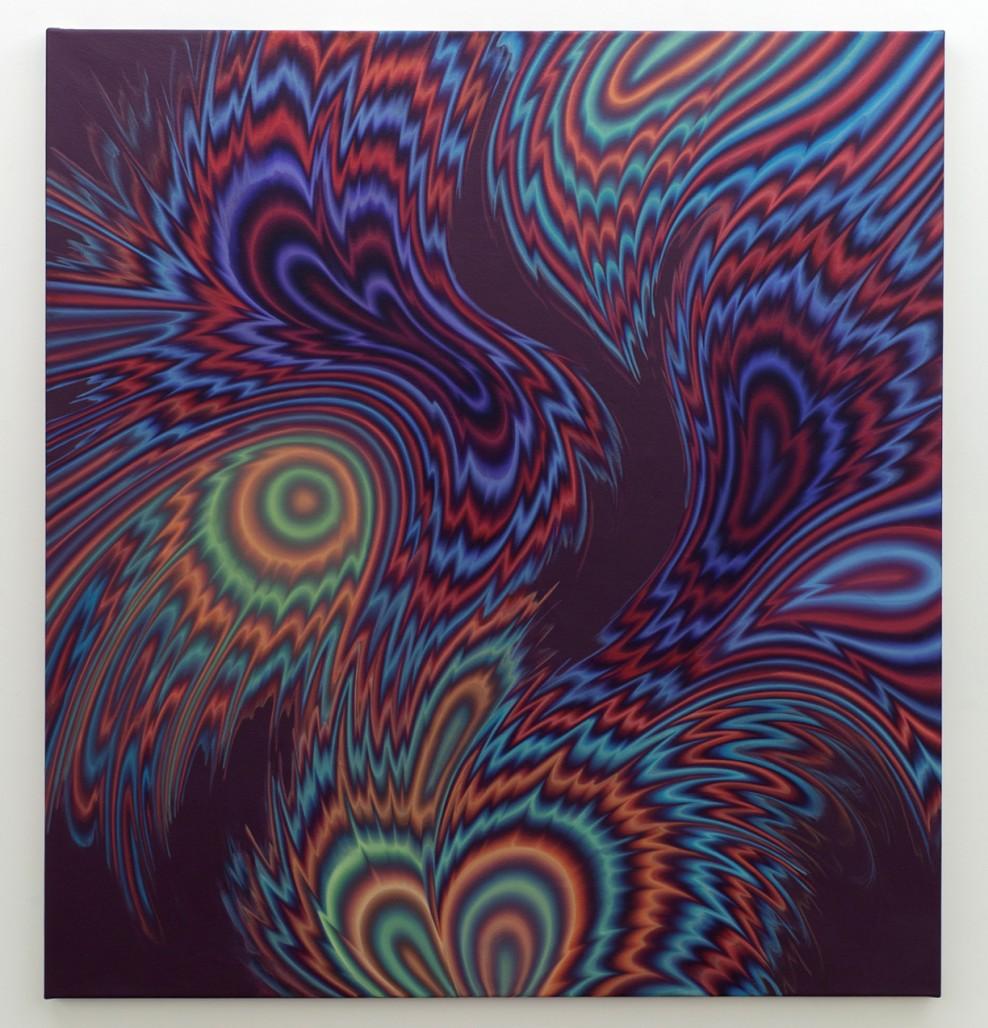 Sillage 8 / Wakes 8, 2019, Acrylique sur toile, 72 » x 66 »