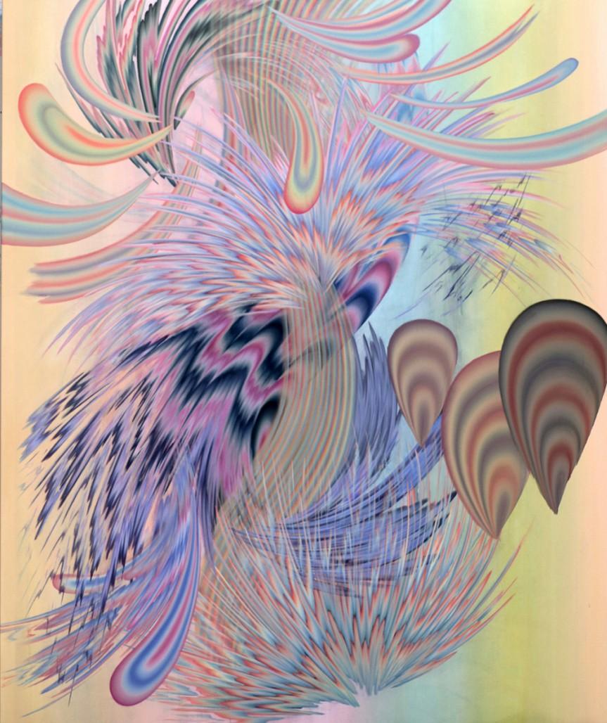 Croissance 5, 2018, Acrylique sur toile, 72 » x 60 »