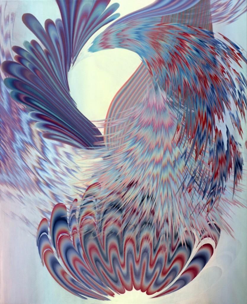 Croissance 6, 2018, Acrylique sur toile, 60 » x 48 »