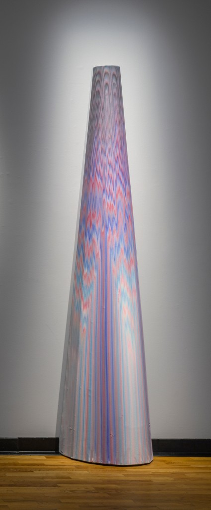 Extraction Scintillante / Sun Structure 5, 2018  Acrylique sur toile collée sur contre-plaqué, 84 » x 26 » x 13 »