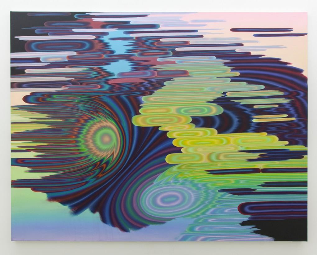 Silllage 6/ Wakes 6 (Le tableau de Leipzig), 2019, acrylique sur toile, 78 » x 101 »